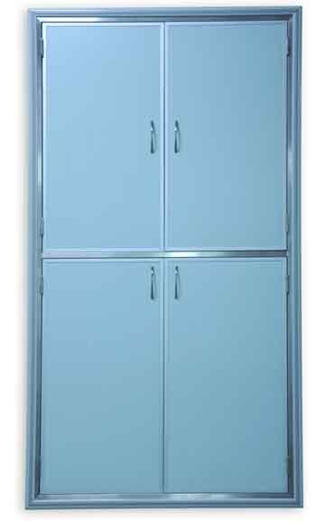 41100系列藏墙式手术室专用柜(器械麻醉柜-铝材款)